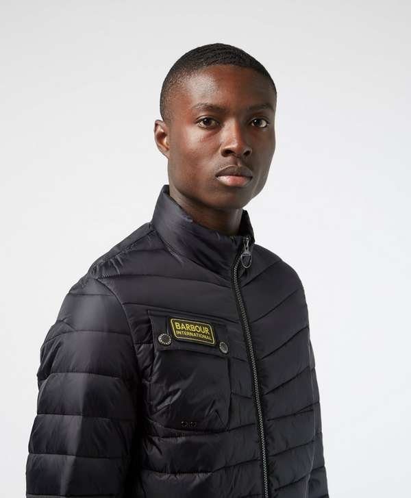 Barbour International Chain Baffle Quilted Jacket