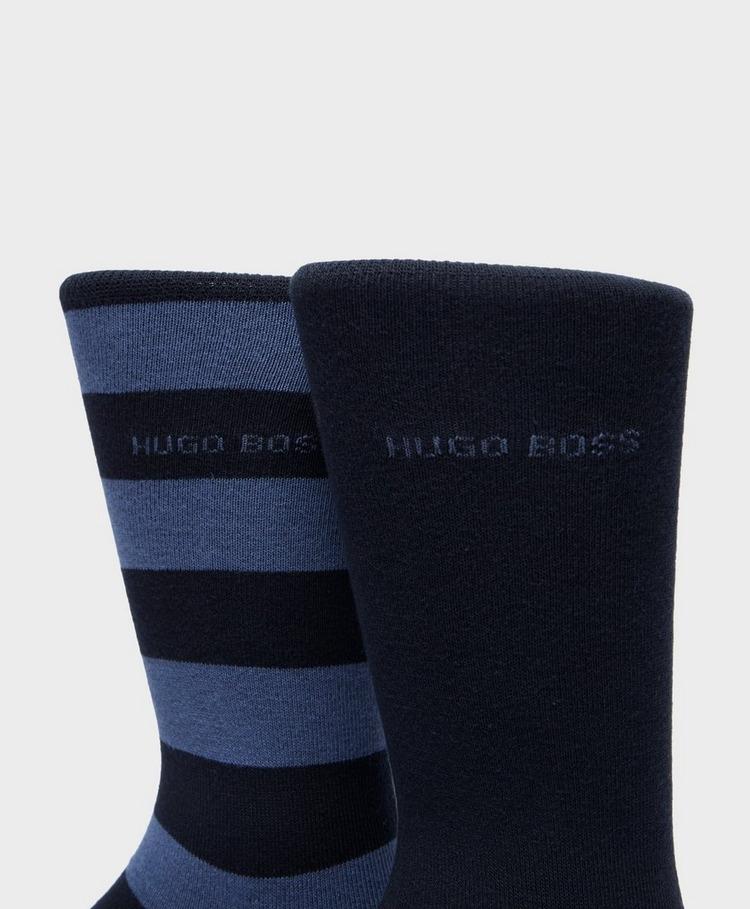 BOSS 2-Pack Stripe Socks