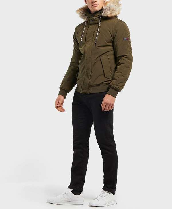 9bbb42cd3 Tommy Jeans Tech Padded Bomber Jacket | scotts Menswear