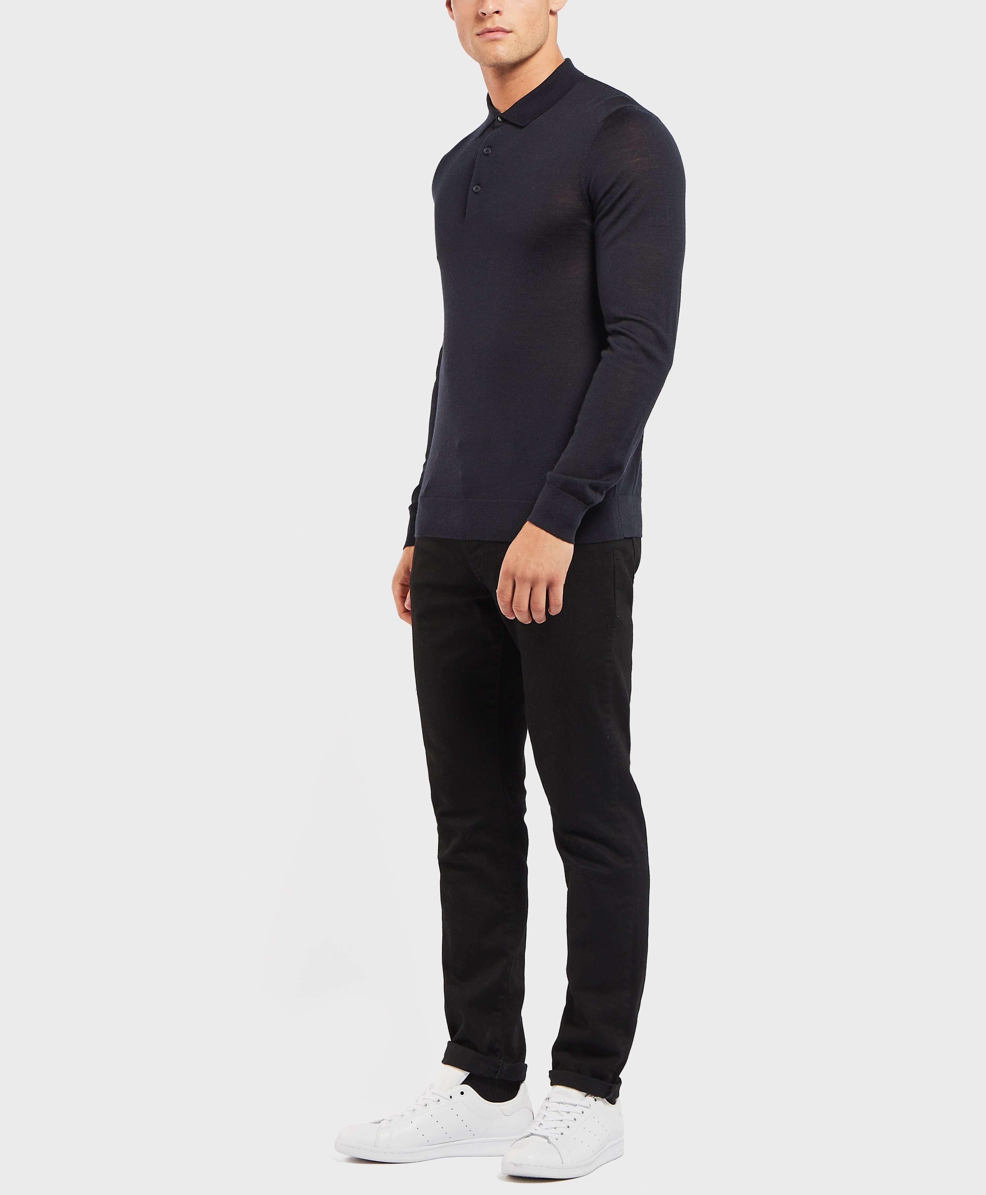 HUGO Gio Knit Long Sleeve Polo Shirt