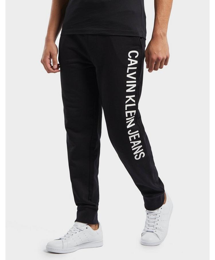 Calvin Klein Institutional Side Logo Cuffed Fleece Pants