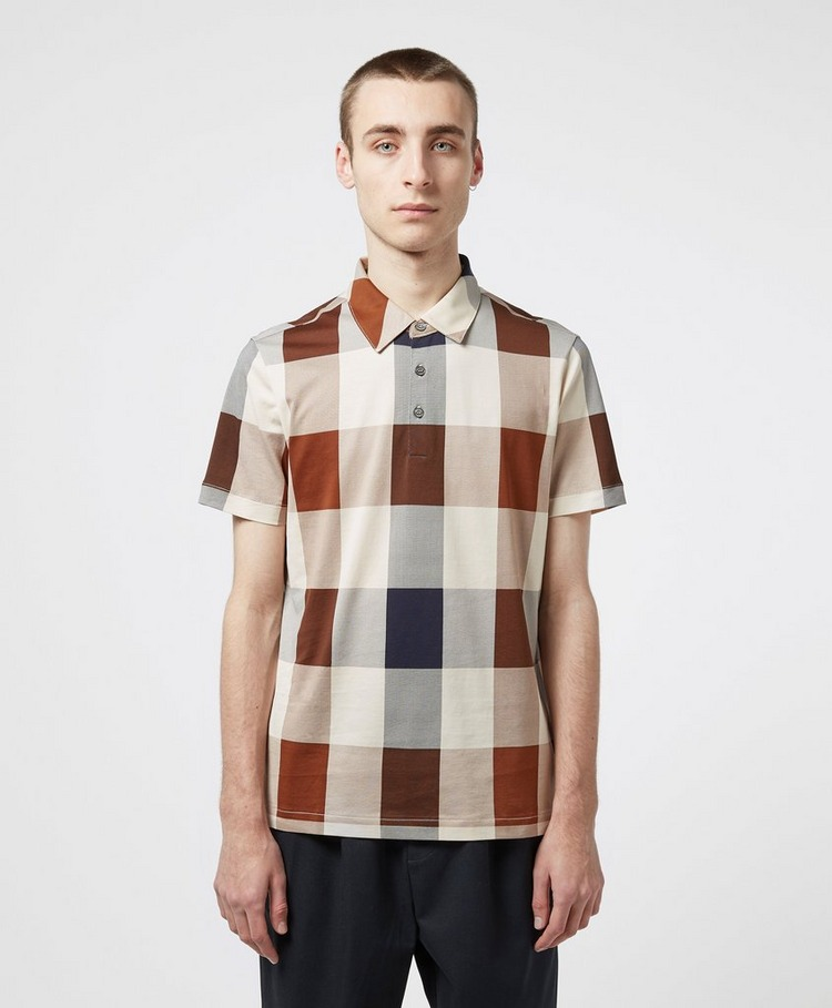 Aquascutum Cody Oversize Check Short Sleeve Polo Shirt