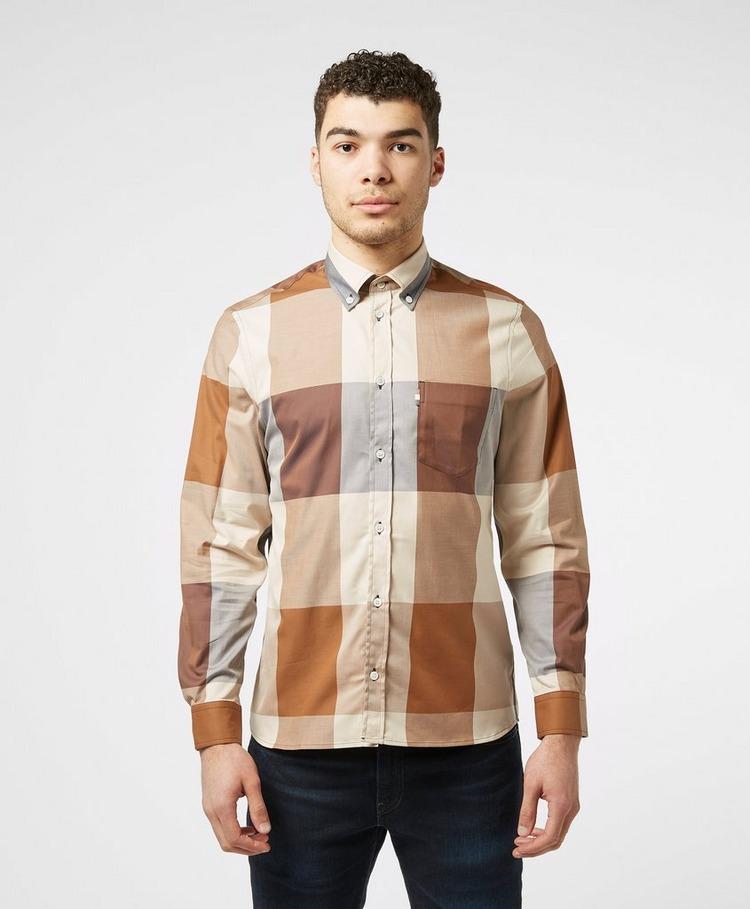 Aquascutum Henlake Large Check Long Sleeve Shirt