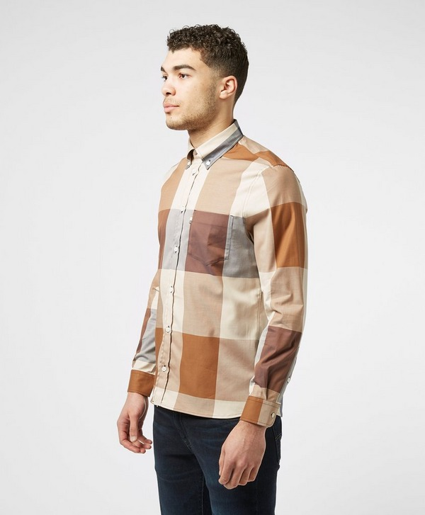 Aquascutum Henlake Large Check Long Sleeve Shirt