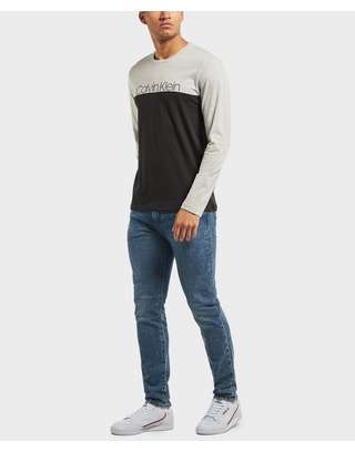 Calvin Klein Block Logo Long Sleeve T-Shirt