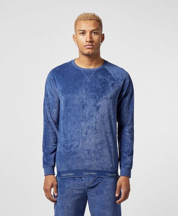 Calvin Klein Jeans Velour Crew Sweatshirt
