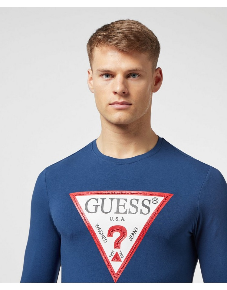 GUESS Triangle Logo Long Sleeve T-Shirt - Exclusive