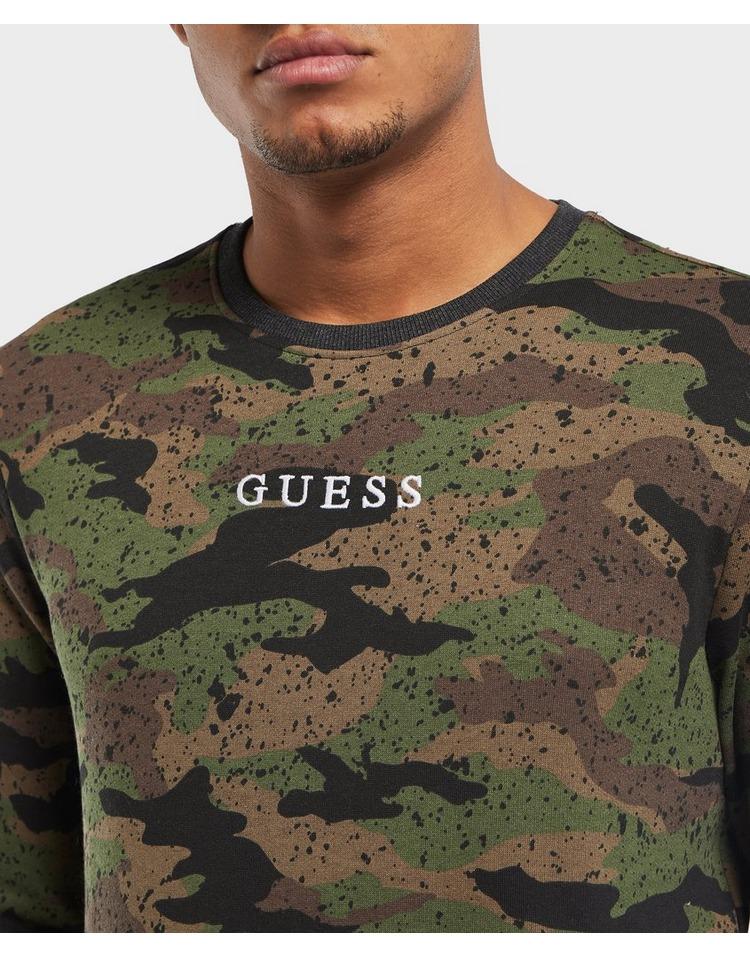 GUESS Camo Logo Sweatshirt
