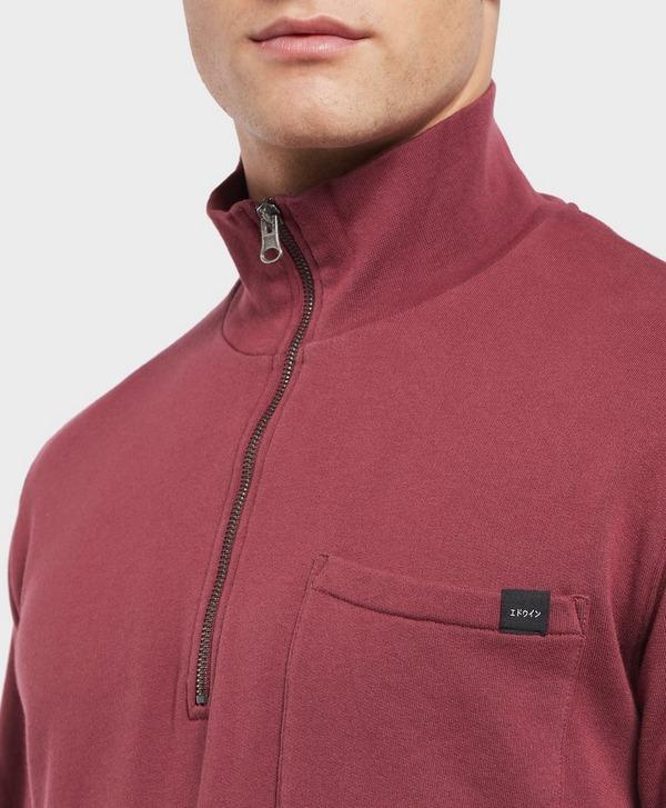 Edwin Popover Half Zip Sweatshirt