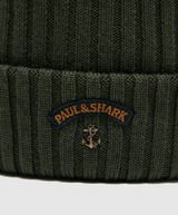 Paul and Shark Ribbed Knitted Logo Beanie