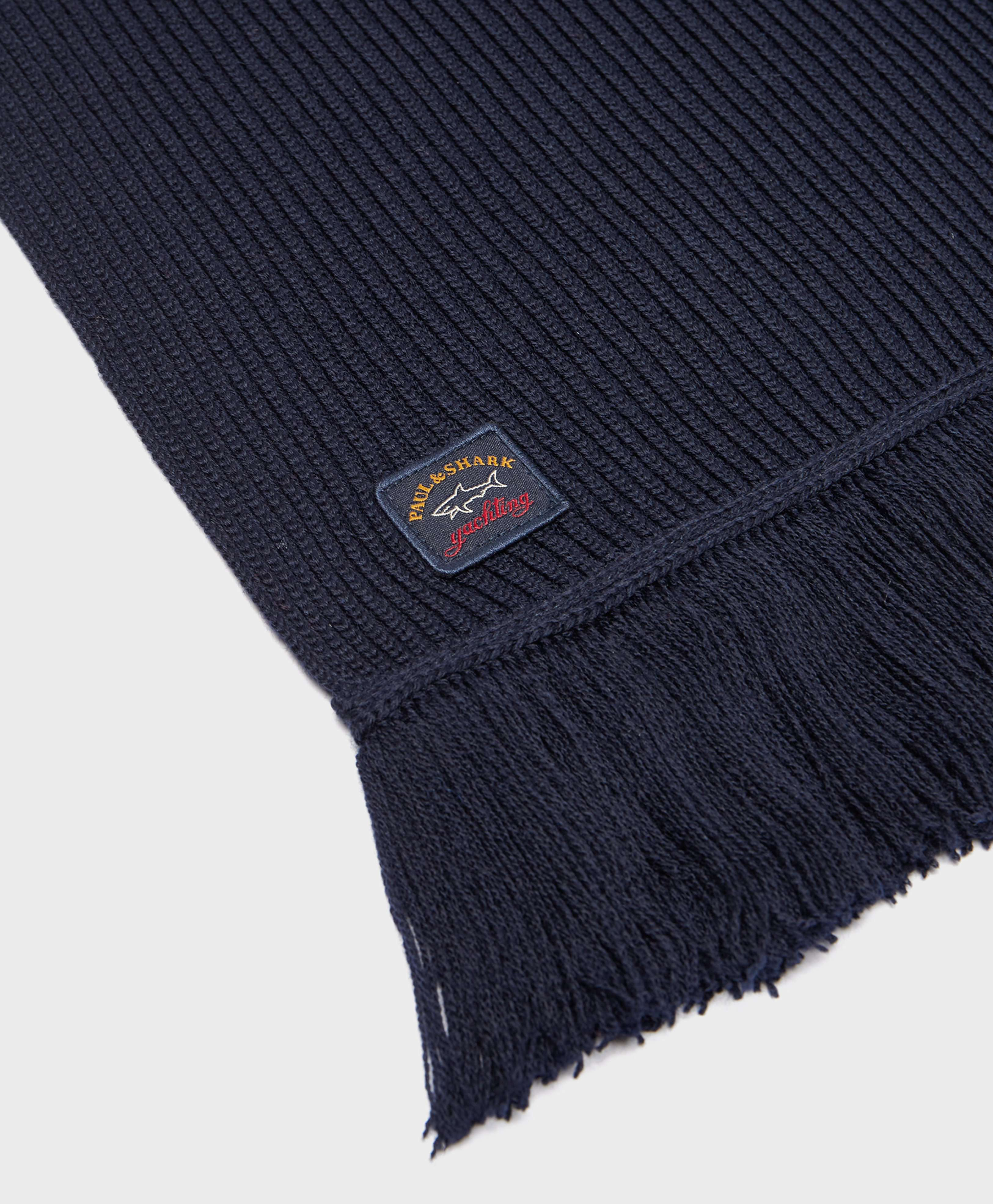 Paul and Shark Ribbed Scarf