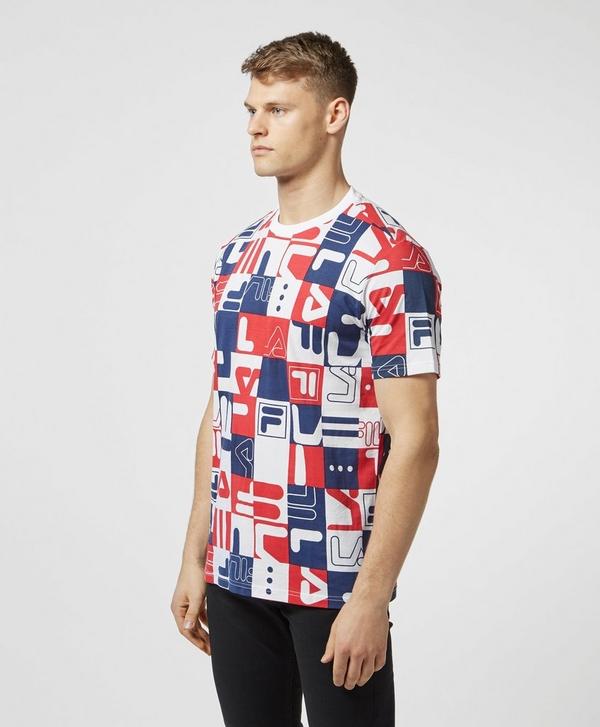 09398c68 Fila Archive Print Short Sleeve T-Shirt | scotts Menswear