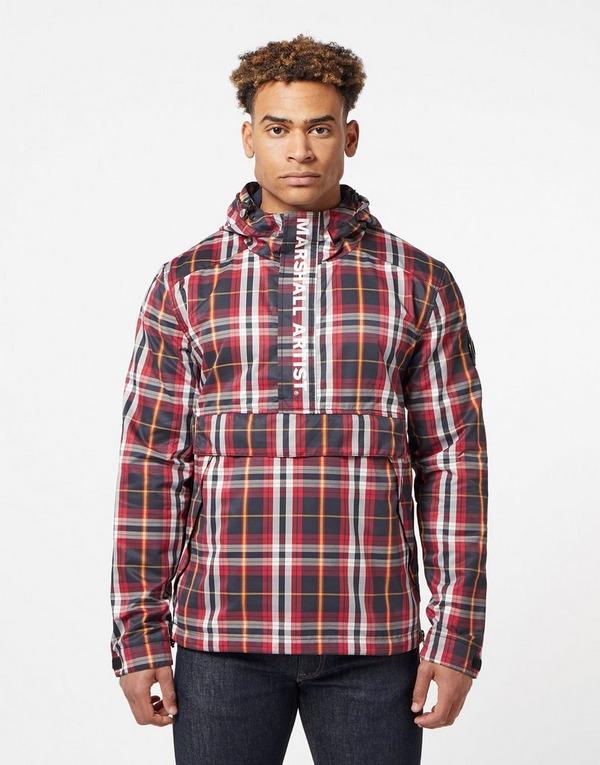 Marshall Artist Check Half Zip Jacket