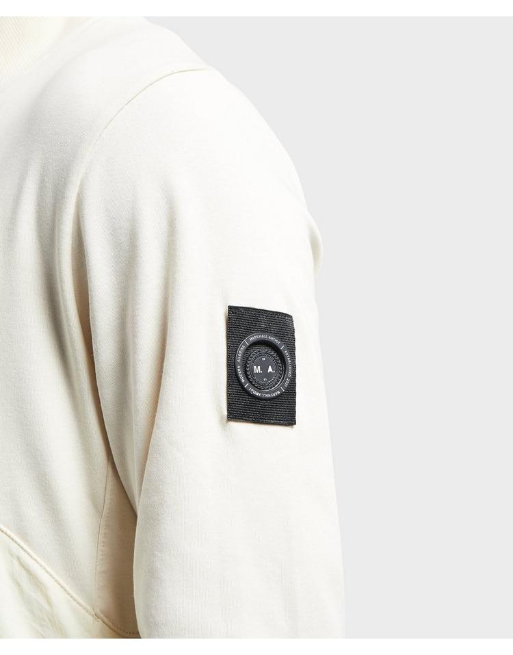 Marshall Artist Garment Dyed Half Zip Hybrid Sweatshirt