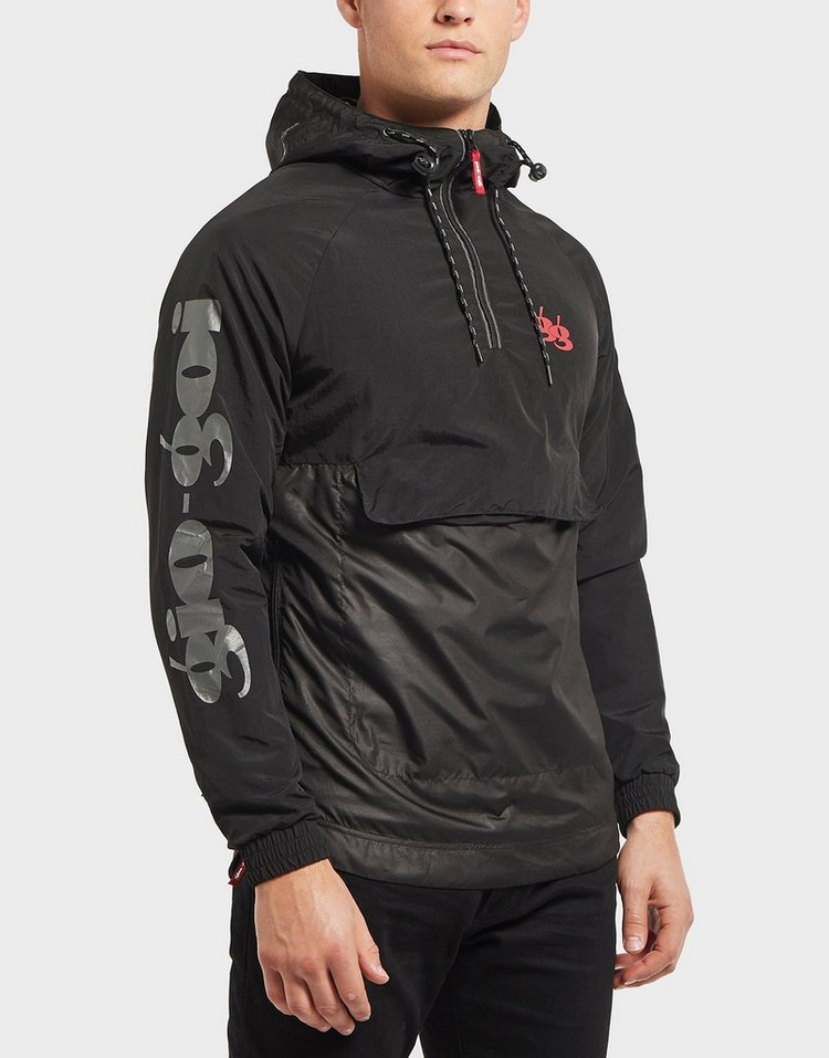 Gio Goi Nylon Mix Overhead Half Zip Jacket