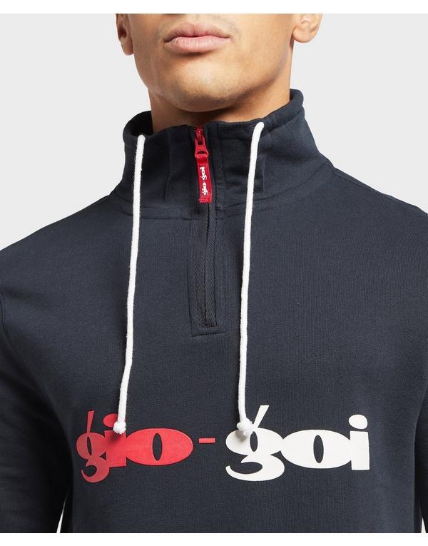 Gio Goi Split Logo Half Zip Sweatshirt - Online Exclusive