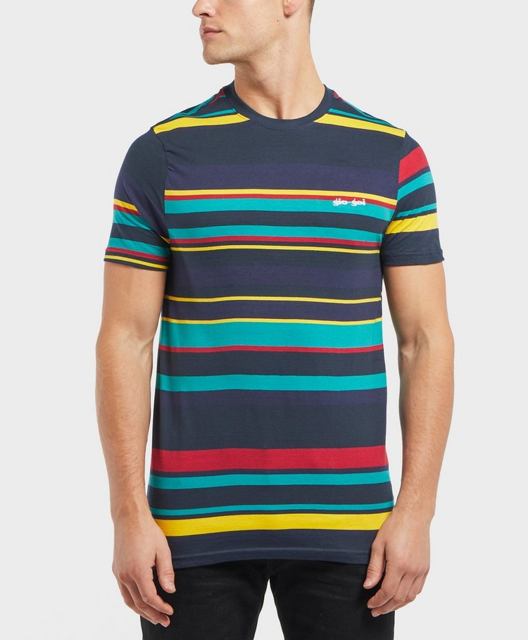 Gio Goi Engineered Stripe Short Sleeve T-Shirt