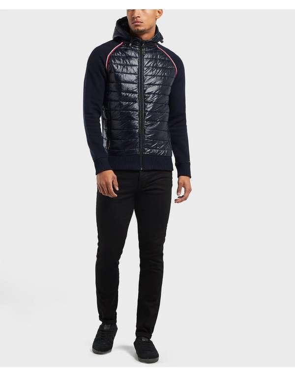 e38bff0f708723 Tommy Hilfiger Mixed Baffle Full Zip Hoodie | scotts Menswear