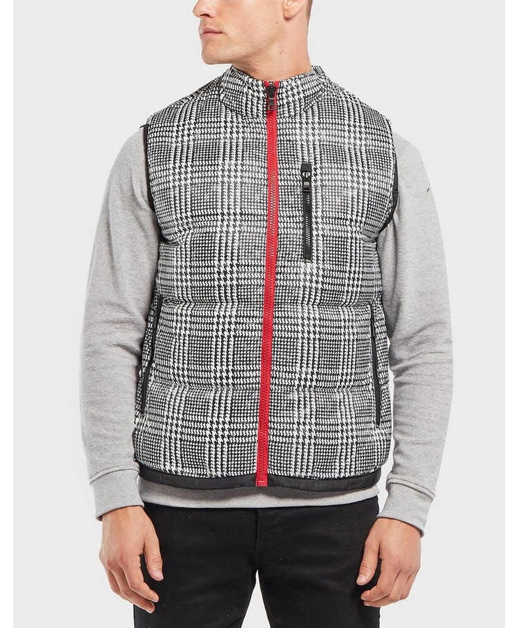 Tommy Hilfiger Check Print Padded Gilet