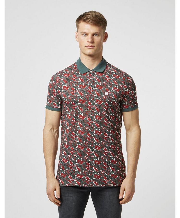 Pretty Green Beaufort Print Short Sleeve Polo Shirt - Exclusive