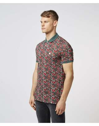 Pretty Green Beaufort Print Short Sleeve Polo Shirt - Exclusive