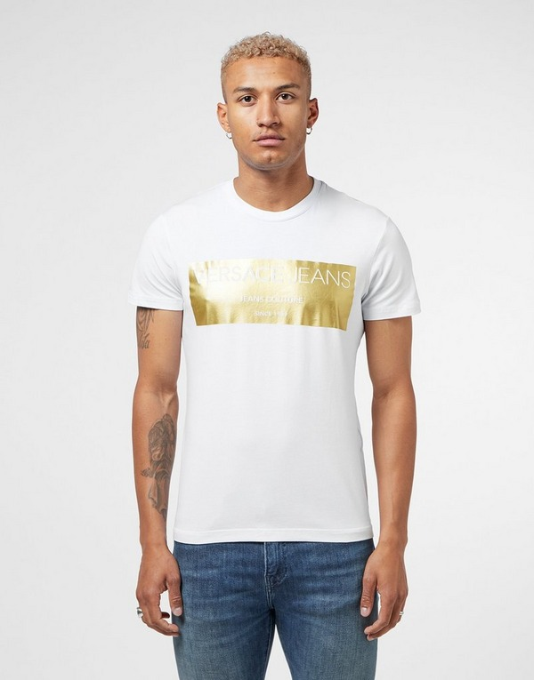 Versace Jeans Foil Square Short Sleeve T-Shirt