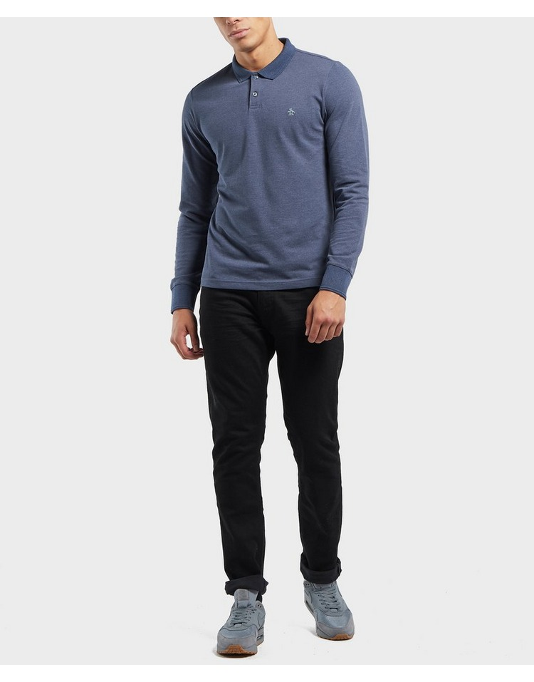 Original Penguin Long Sleeve Logo Polo Shirt