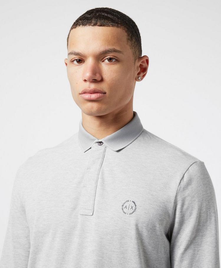 Armani Exchange Chest Logo Long Sleeve Polo Shirt