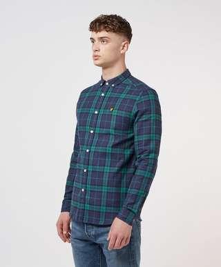 Lyle & Scott Check Flannel Long Sleeve Shirt