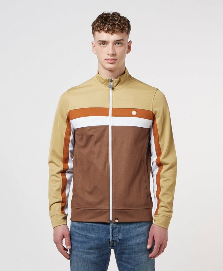 Pretty Green Contrast Panel Full Zip Track Top