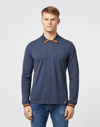 Pretty Green Brooklyn Long Sleeve Polo Shirt