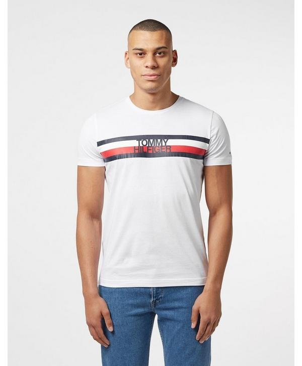 f694b21b Tommy Hilfiger Flag Logo Short Sleeve T-Shirt | scotts Menswear