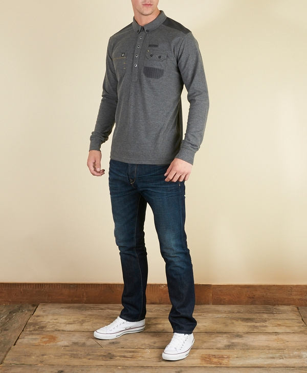 997744f31 Duck and Cover Amari Long Sleeve Polo Shirt | scotts Menswear