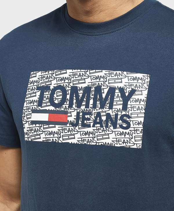 Tommy Jeans Graffiti Box Logo Short Sleeve T-Shirt