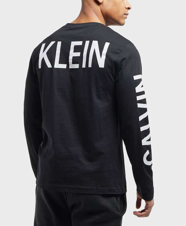 Calvin Klein Institutional Back Print Long Sleeve T-Shirt