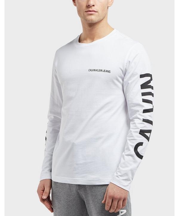 afdeaff7548 Calvin Klein Institutional Back Print Long Sleeve T-Shirt | scotts ...