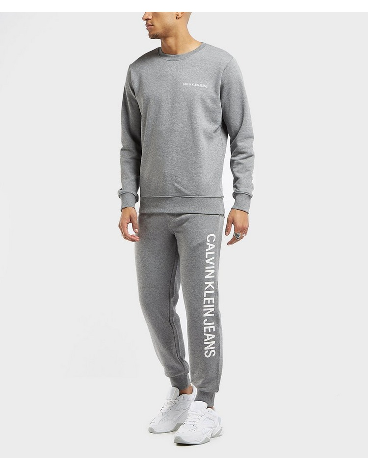Calvin Klein Institutional Side Logo Cuffed Fleece Pants