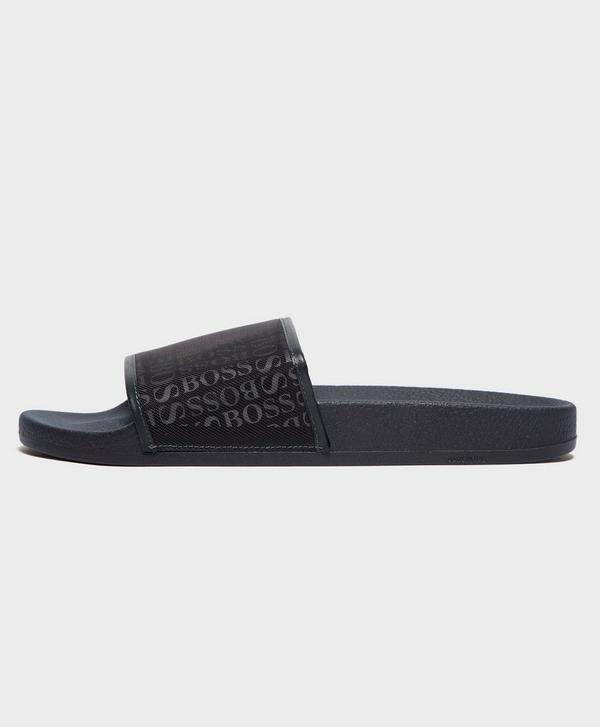 Dark Blue New Mens Boss Athleisure Slides Solar Men's Shoes Sandals
