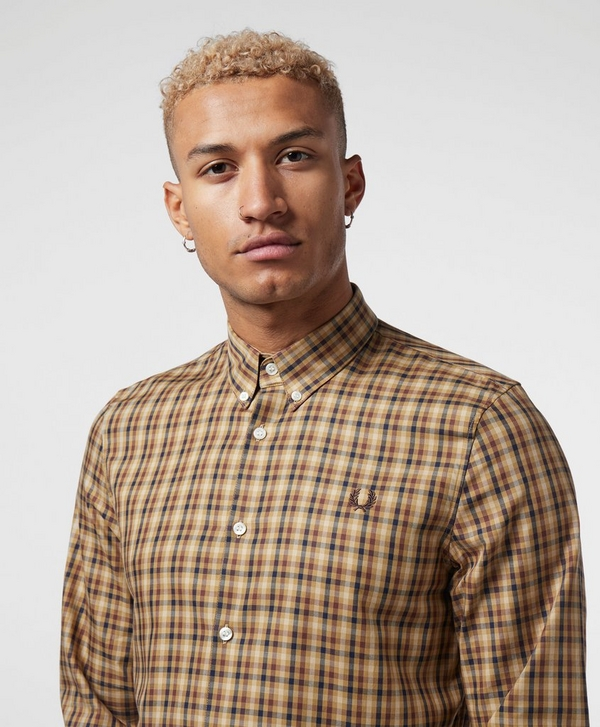 73e390064 Fred Perry Twill Checked Long Sleeve Shirt