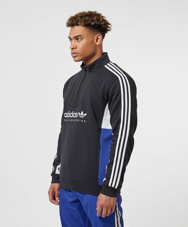 a0a7cbf99 adidas Originals Apian Pullover Half Zip Sweatshirt