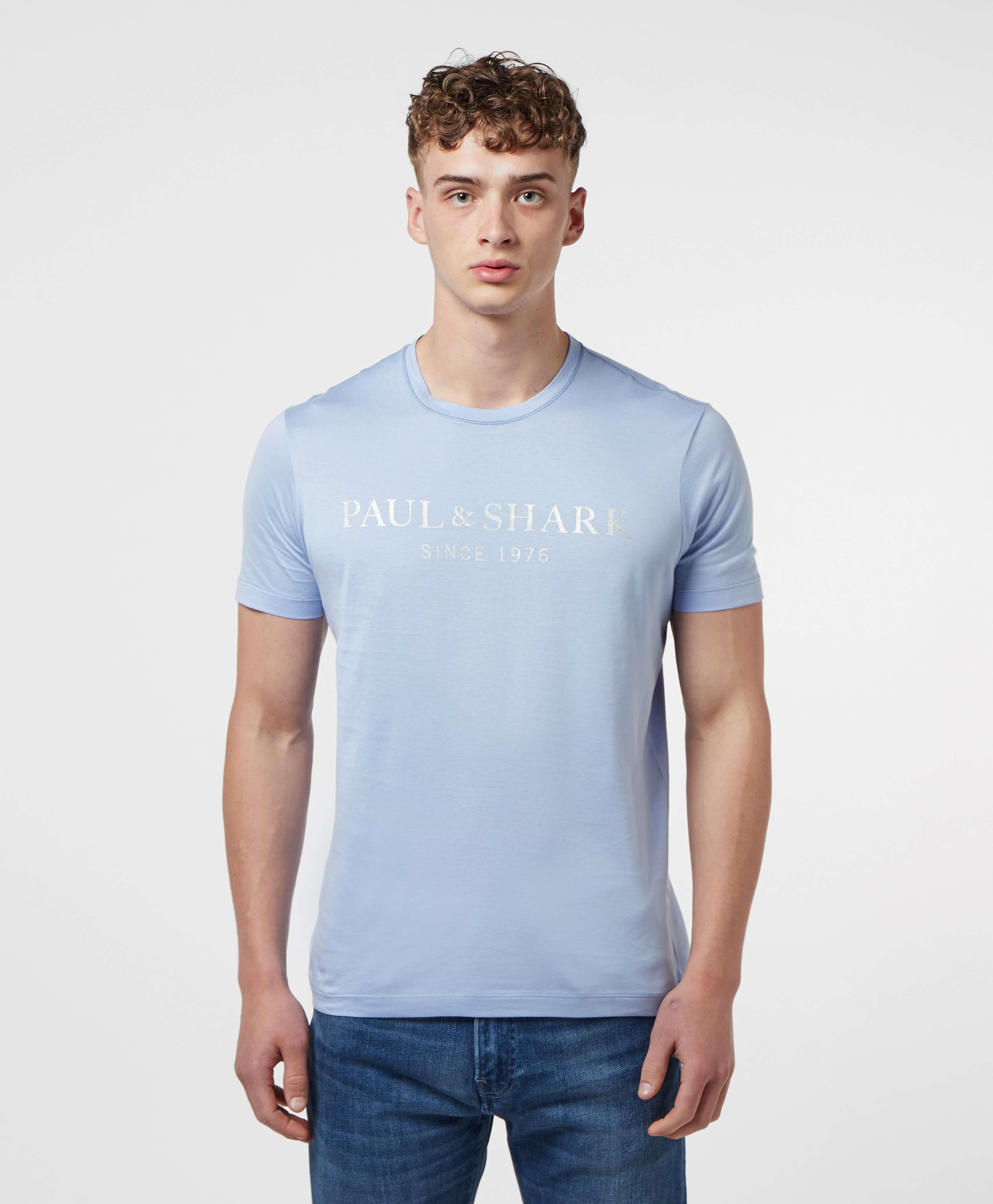Paul and Shark Silver Logo Short Sleeve T-Shirt