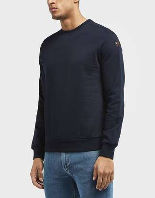 Paul and Shark Sleeve Branded Crew Sweatshirt