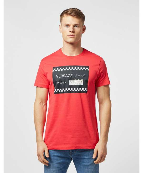 Versace Jeans Piece Number Short Sleeve T-Shirt