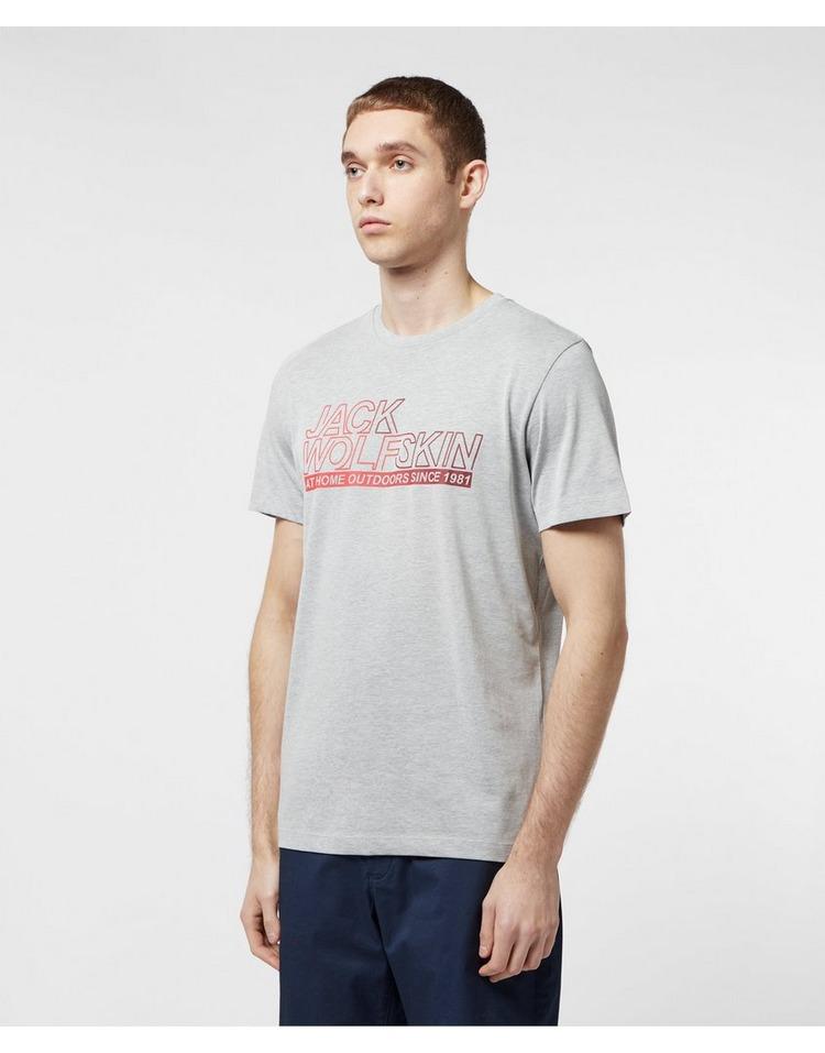 Jack Wolfskin Large Logo Ocean Short Sleeve T-Shirt