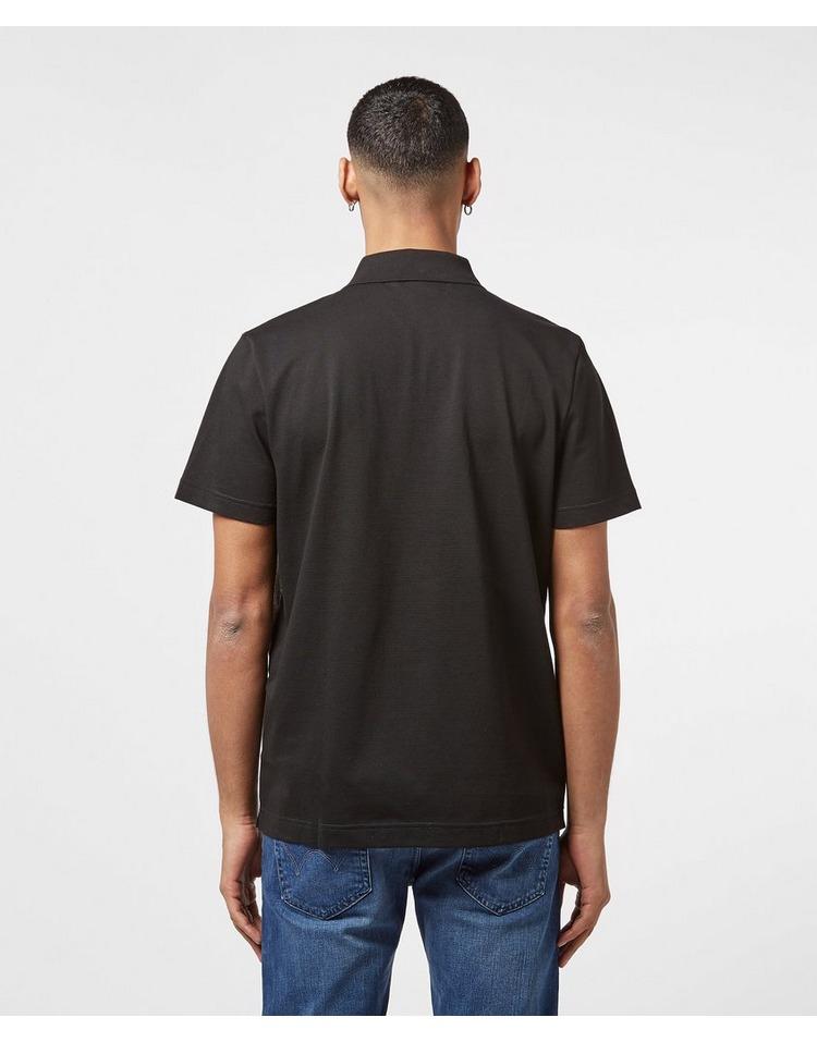 Lacoste Colour Block Short Sleeve Zip Polo Shirt