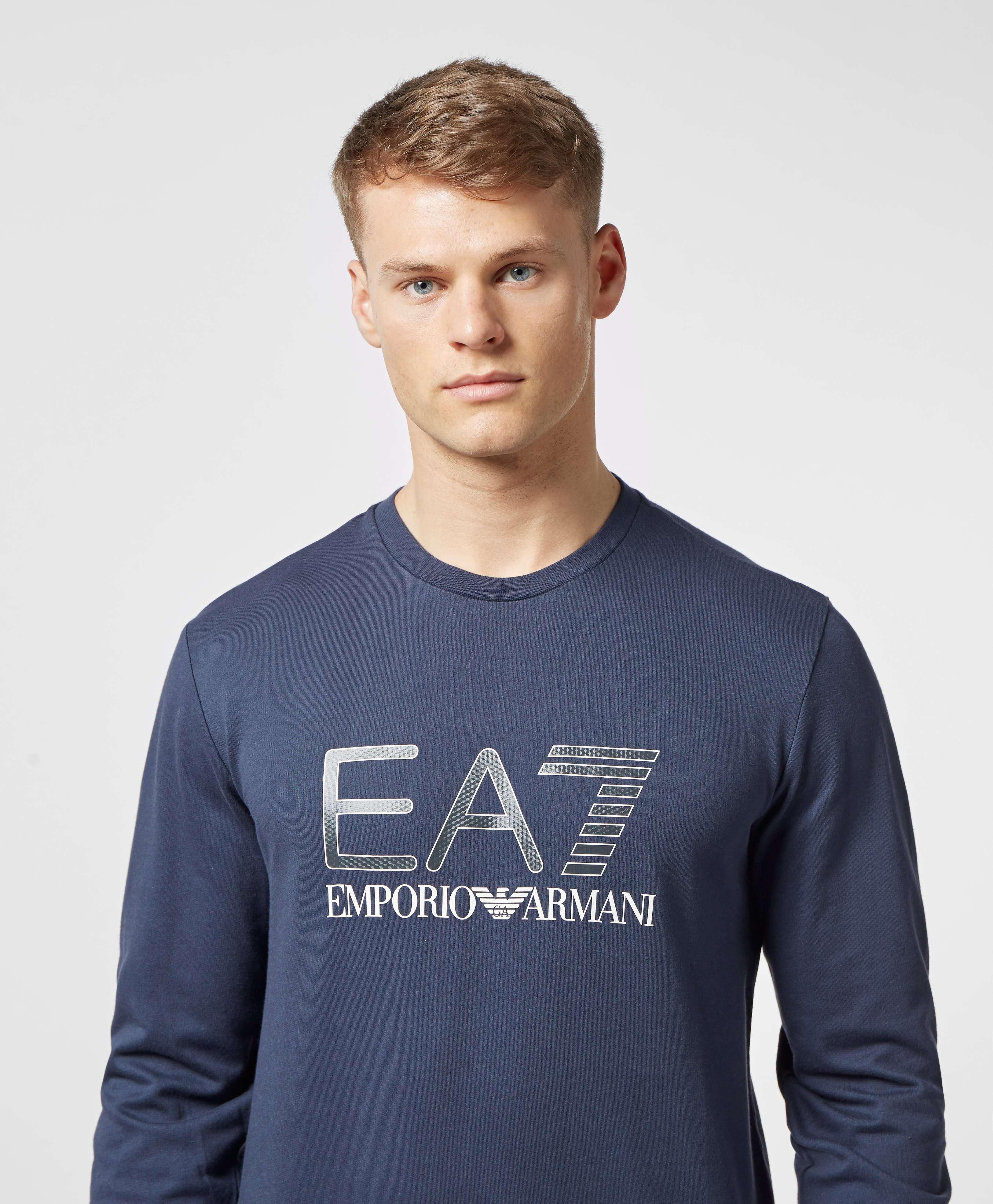 Emporio Armani EA7 Carbon Logo Crew Sweatshirt