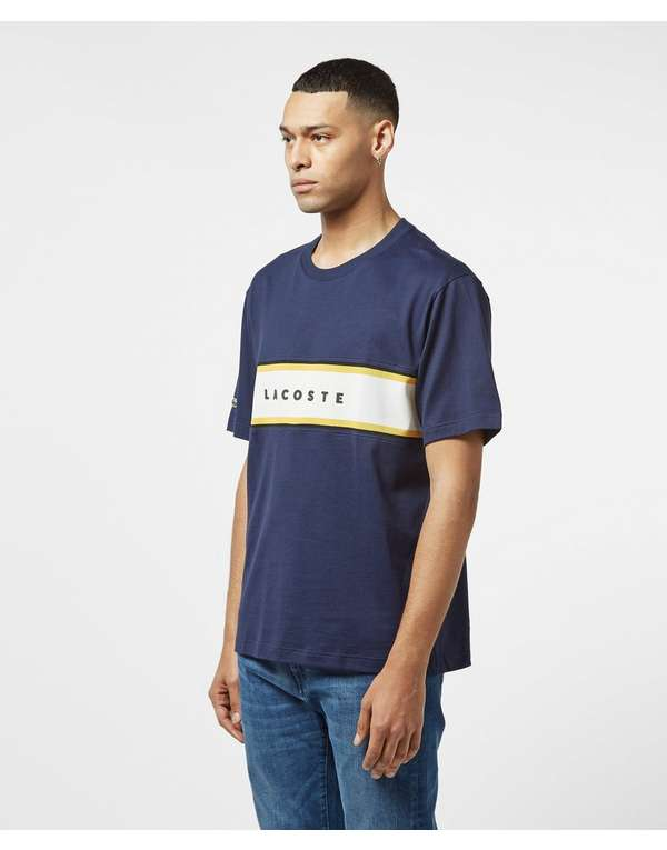 Lacoste Block Logo Short Sleeve T-Shirt - Online Exclusive