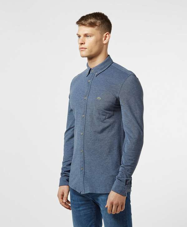 Lacoste Long Sleeve Oxford Pique Shirt