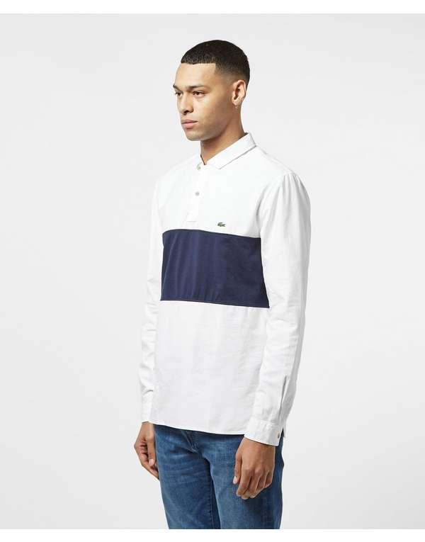Lacoste Rugby Panel Long Sleeve Polo Shirt
