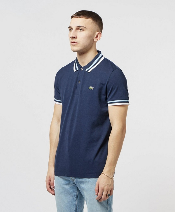 6aff3c32b4 Lacoste Made In France Short Sleeve Tipped Polo Shirt | scotts Menswear